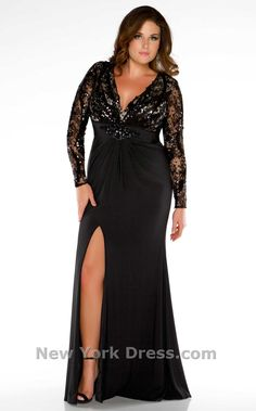 Plus Size Formal Prom Dresses, Evening Gowns Plus Size Evening Gown, Evening Dresses With Sleeves, Chiffon Evening Dresses, Lace Chiffon, Sleeve Dresses, Long Black Evening Gowns, Lace Dress, Gown Dress, Dress Prom