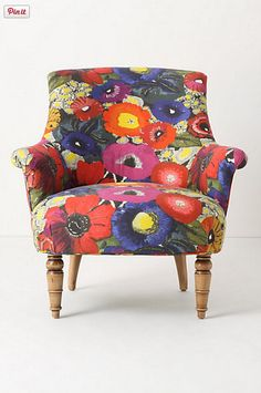 floral chair poetic wanderlust tip; a few quirky statement pieces can make a room more soulful- think accessories - this is that great vintage cuff ( in chair form! Silla Art Deco, Eclectic Chairs, Floral Chair, Funky Furniture, Floral Furniture, Eclectic Furniture, Leather Furniture, Colorful Furniture, Furniture Decor