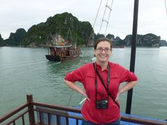 Me at Ha Long Bay in Vietnam. I lived in Hanoi and Ho Chi Minh City while I did archival research for my dissertation on French Indochina.