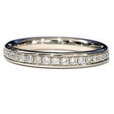 Dreaming.., £210. ♡♡♡ Brand New 2.5 MM Heavy 0.50 Carat Round Diamond Pave Set Full Eternity Ring: Amazon.co.uk: Jewellery