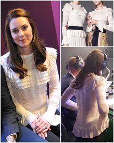 "944 Likes, 12 Comments - Catherine Duchess Of Cambridge (@katemidleton) on Instagram: ""To the BBC Radio 1 surprise visit yesterday, the Duchess donned a beautiful new almond blouse by…"""