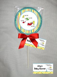 Seuss Personalized Baby Shower Chocolate Lollipop or Cookie Favor as thank yous after the shower Baby Shower Favors, Baby Shower Games, Baby Showers, Dr Seuss Baby Shower, Chocolate Lollipops, Cookie Favors, Everything Baby, Having A Baby, Baby Pictures