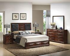 Baxton Studio Windsor Brown 5-Piece Modern Bedroom Set