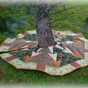 Woodland Forest Tree Skirt/Table Topper - via @Craftsy