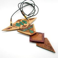 RESERVED// Native Inspired Geometric Necklace. $36.00, via Etsy.