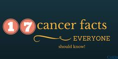 Here are 17 cancer facts that you need to know. What you need is working knowledge about cancer. Who is most at risk? What factors increase cancer risk...