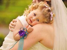 A cutie wearing her Flaxation wrist corsage. www.flaxation.co.nz