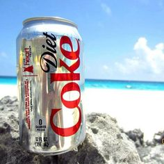 Diet coke, white sand & turqoise waters. Happy place.
