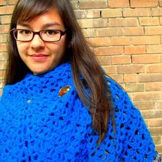 DIY: Crocheted Lacy Turquoise Shawl and Free Pattern