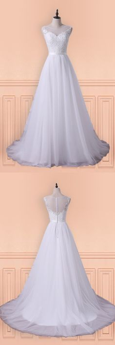 Only $168.99, Wedding Dresses Princess A-line Tulle Long Wedding Dress With Sweep Train For Older Brides #E7976 at #GemGrace. View more special Wedding Dresses,Beach Wedding Dresses now? GemGrace is a solution for those who want to buy delicate gowns with affordable prices. Free shipping, 2018 new arrivals, shop now to get $10 off!