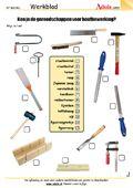 Gereedschap - Werkbladen | Handvaardigheid