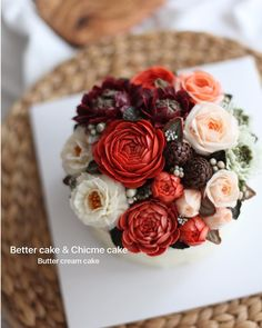 ". . Our work  . . ""KEEP CALM AND MAKE BETTER CAKE!!"" @better_cake_2015  @chicme_cake . . . - BETTER CAKE & CHICME CAKE - ( Butter cream flower cake ) . . . Any further inquiries about our class, Plz contact me through Kakaotalk, LINE or Email. Mailbettercakes@naver.com Linebetter_cake FacebookBetter Cake Kakaotalkbettercake www.better-cakes.com .  #buttercream#cake#beanpaste #베러케이크#cupcake#flower#꽃#ricecake#앙금플라워#koreabuttercream#wilton#앙금플라워케익#디저트#buttercreamcake#dessert#..."