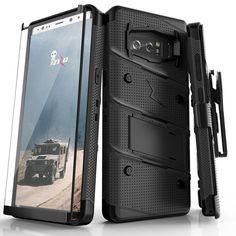 ZIZO BOLT Samsung Galaxy Note 8 Case Combo - Black/Black