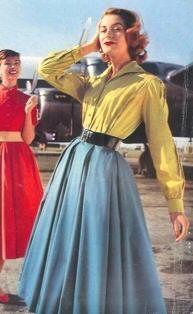50's fashion by pollovf, via Flickr