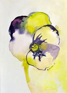 Original Watercolor Painting, Flower Picture, Watercolour, Floral Wall Art, Dreamy Art, Unique gift, Leela's Eye,
