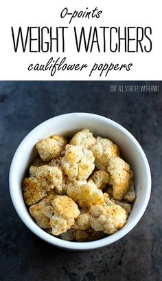 Zero Point Weight Watchers Snack Ideas: Baked Cauliflower recipe