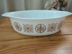 Vintage Pyrex Hex Signs 045 Casserole Baking Dish ** Now with lid!  #Pyrex