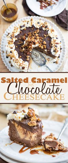 Chocolate Salted Caramel Cheesecake