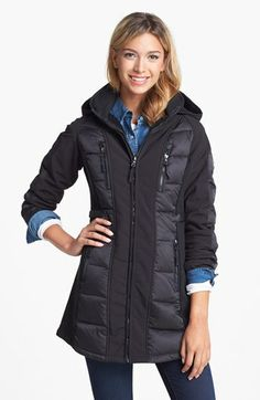 1 Madison Soft Shell Jacket with Down  amp  Feather Panels available at   Nordstrom Down 4e1b7ed8e3da0