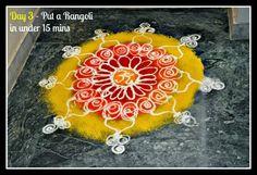 Artsy Craftsy Mom: Dussehra / Diwali  - Draw a rangoli in 15 mins flat