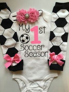 Baby Girl Soccer Day Outfit My 1st Soccer Season by AboutASprout