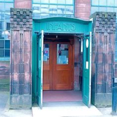 Glasgow School Museum, designed and run as a school, by Charles Rennie Macintosh in late 19th C