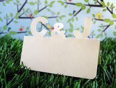 Wedding Place Cards Custom Initials Monogram Set of by tiffzippy, $55.50