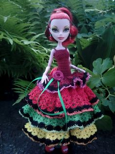 Outfit for Monster High doll. Operetta by OdejdaKykle on Etsy