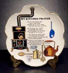 "Kitchen Prayer Display Plate Plaque Wall Hanging Vtg Original Artmark Japan 8"" | eBay"