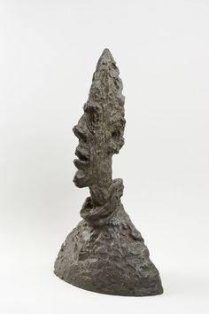 Alberto Giacometti | Tall Thin Head (Grande tête mince) (1954) | Artsy Giovanni Giacometti, Alberto Giacometti, Guggenheim Museum Bilbao, Claes Oldenburg, Modern Sculpture, Metal Sculptures, Sculpture Painting, Post Impressionism, Artist Gallery