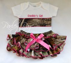 This has my sweet Emily's name ALL OVER it!! @Camille Blais Dawn Thompson!! Daddy's Girl Camo Tutu
