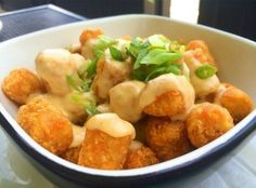 Ghost chili cheese tots