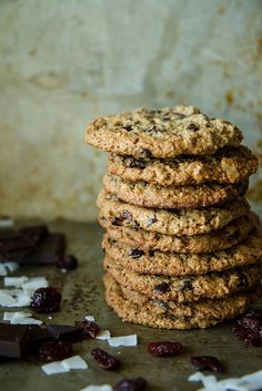 Delicious cookies from @heathercristo that are gluten free and vegan! | Healthy Eating | Cherries | Dried Fruit