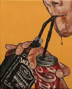 Resultado de imagen para jack and coke pop art Arte Dope, Dope Art, Art Sketches, Art Drawings, Character Illustration, Illustration Art, Landscape Illustration, Retro Aesthetic, Aesthetic Wallpapers