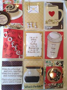 Modify with tea theme and insert teabags? Atc Cards, Journal Cards, Pocket Scrapbooking, Scrapbook Cards, Pocket Pal, Project Life Cards, Coffee Cards, Letter A Crafts, Pocket Letters