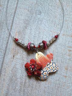 Collier pendentif mon jardin fleuri - défi du moi de mai : Collier par arliane