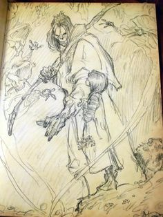 Possibly by Iain Mccaig? Sketch Inspiration, Character Design Inspiration, Cool Drawings, Drawing Sketches, Sketching, Bd Comics, Art Inspo, Art Reference, Comic Art