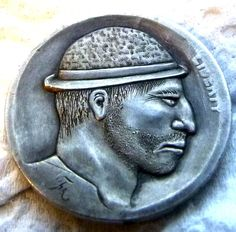 MARK THOMAS HOBO NICKEL - NO DATE BUFFALO PROFILE Mark Thomas, Hobo Nickel, Buffalo, Carving, Profile, User Profile, Wood Carvings, Sculptures, Printmaking