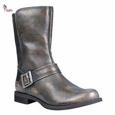 Timberland, Bottes pour Femme - noir - schwarz / vergoldet, - Chaussures timberland (*Partner-Link)