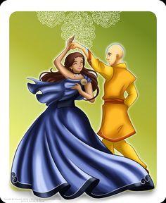 Avatar the Last Airbender - Avatar Aang x Katara - Freedom by *selinmarsou on deviantART
