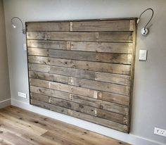 Apple crate plank headboard