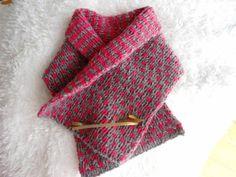 読んで編む リバーシブルマフラー - tinkの編み物日記
