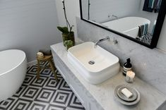 The Block Glasshouse 2014 – Darren and Deanne - Main Bathroom reveal - Model Home Interior Design Bathroom Renos, Laundry In Bathroom, Bathroom Flooring, Bathroom Renovations, Bathroom Interior, Small Bathroom, Master Bathroom, Bathroom Tapware, Bathroom Cabinetry