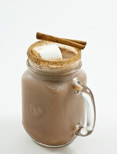 Spiced cinnamon sugar rim for hot chocolate
