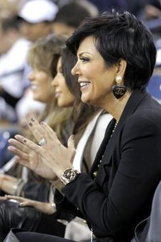 Kris Jenner wearing a Rolex Daytona Pink Gold watch