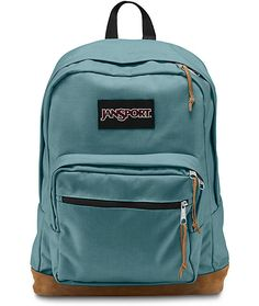 $57.95 Go anywhere with the Right Pack frost teal backpack from Jansport. This backpack features Cordura fabric construction which is designed to resist tears, scuffs and abrasions. Jansport's signature suede bottom comes to life and is accented by the teal colo