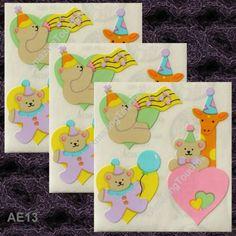 Sandylion Scrapbooking Love Heart Teddy Stickers AE-13-3