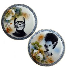 A Funny Gift | Mr. & Mrs. Frankenstein Plates! or a fun DIY!!!