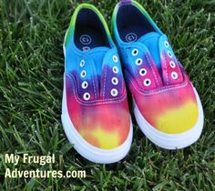 DIY Tie Dye Children's Shoes