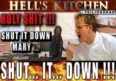 This week on Hell's Kitchen Walking Dead Memes, The Walking Dead, Hells Kitchen, Jokes, Gordon Ramsey, Fictional Characters, Pretty, Husky Jokes, Walking Dead